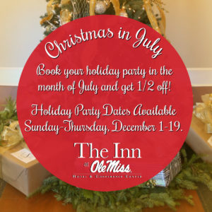 Christmas in July Sale – Book Your Holiday Party Early and SAVE!